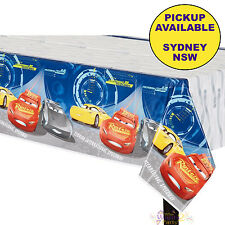DISNEY CARS 3 PARTY SUPPLIES PLASTIC TABLECLOTH RACING BIRTHDAY TABLE COVER