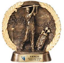 "Nice Heavy Male Or Female Golf Resin Trophy Plate Award 7 1/2"" M-Rfh511"