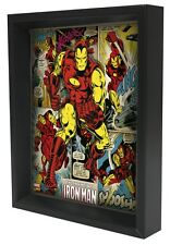 IRON MAN-PANELS 8x10 3D SHADOWBOX WALL DECOR MARVEL COMICS SUPERHERO ART STANLEE