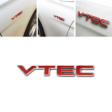 3D VTEC Metal Logo Car Letter Sticker Auto Fender Decal Chrome Emblem