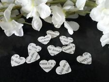 400 x  Paper Heart Vintage Romantic Novel Rustic Wedding Arts and Crafts