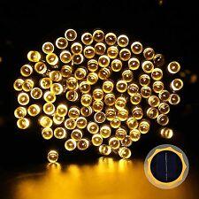 Solar Light 100 Pc Yellow LED Festival Fairy String Light Diwali Home Decoration