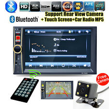"""GPS 7"""" Android Double 2DIN Car Stereo MP3 MP5 Player Bluetooth Radio +HD Camera"""
