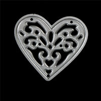1x cute metal love heart cutting dies stencils embossing album paper craft be
