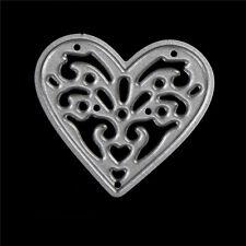2x cute metal love heart cutting dies stencils embossing album paper craft Pop E