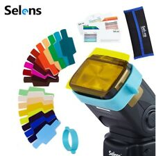 Selens 20pcs Photography Speedlite Flash Color Balance Gel Filter Universal Kit