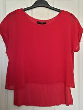 Dorothy Perkins Pink Double Layered Top Size 14 New