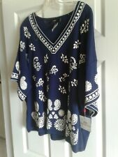 woman's top Rafaella 2X NWT navy