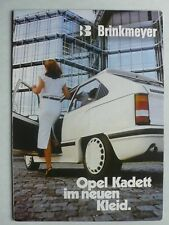 Prospekt Opel Kadett D Brinkmeyer Tuning, ca.1980, 8 Seiten, Innenseiten Poster