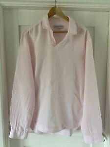 Orlebar Brown Pink Linen Summer Shirt (Size L)