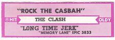 Juke Box Strip THE CLASH - ROCK THE CASBAH / LONG TIME JERK