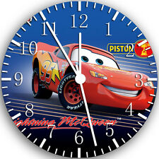 "Disney Cars Mcqueen wall Clock 10"" will be nice Gift and Room wall Decor W101"