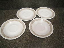 "Corning Ware Corelle Woodland Brown 6-1/4"" Saucers Set of 4"
