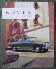 ROVER 3 LITRE CAR SALES BROCHURE CIRCA 1960 REF- 620
