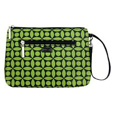 Diaper Clutch with Changing Pad By Kalencom-Coated Cotton-Green Clover