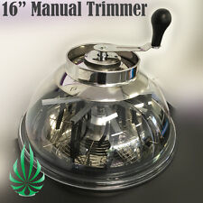 "PickUp Hydroponic 16"" Clear Top Stainless Plant Bud Leaf Flower Manual Trimmer"