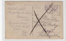 AUSTRIA: 1918 postcard with MILITARPFLEGE mark (C38602)