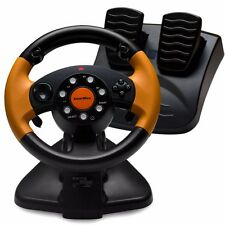 SmartBox Racing Wheel Set w/ Vibration & Paddle Shifters for Playstation 2 & 3