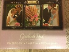 Wedding Day Triple Opening Picture Frame, Ceramic/Metal,Made By Grassland Road