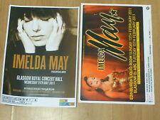 Imelda May live music memorabilia - Scottish tour concert show gig posters x 2