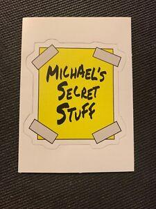 "Space Jam ""Michael's Secret Stuff"" Decal Sticker Michael Jordan 3.2"" x 3"""