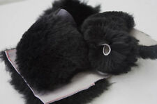 1/2 pound BLACK Wool Real Sheepskin Scraps Craft Quilt Costumes for Pets + Kids!