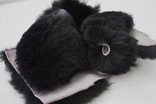 1 LB Black WOOL Merino Sheepskin Fleece Craft off-cuts for Sewing & Pet Toys