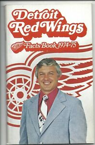 1974-75 Detroit Red Wings hockey Media Guide Facts Book