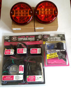 REAR LIGHT KIT - TRAILERS  VANS - BIG BRIGHT LED TAIL/STOP/TURN LIGHTS + WIRING