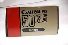 Canon Macro Lens FD 50mm 1:3,5 obiettivo OVP