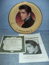 Bradford Exchange Collectible Plate Elvis Presley Jailhouse Rock w/ Coa