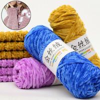 100g Gold Velvet Yarn Wool Crochet Knitting Sweater Scarf Thread Craft DIY Solid