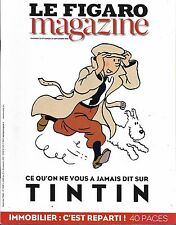 LE FIGARO MAGAZINE N°22432 23/09/2016  TINTIN/ PERE HAMEL/ IMMOBILIER/ CHEVAL