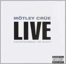 """MÖTLEY CRÜE """"LIVE: ENTERTAINMENT OR DEATH"""" 2 CD NEU"""