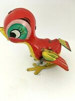 Vintage MIKUNI Japan Mechanical Tin Wind-Up Litho Litograph Toy Pecking Bird