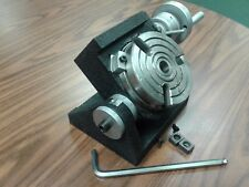 "4"" PRECISION TILTING ROTARY TABLE, MT2 CENTER,heavy duty Part#TSK-100cn- NEW"