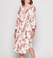 NWT JOIE Jeanee White Floral Print Button Up Shirt Dress Womens Size Small