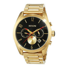 Nixon A366510 Womens Black Dial Analog Quartz Watch With Stainless Steel Strap