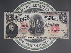 "1907 $5 ""Woodchopper"" Legal Tender Large Note FR# 91 ECC&C, Inc."