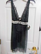 NWT  Seductive Wear by Cinema Etoile ~ Women's Sleepwear 2 Piece ~ Sz XL ~ Black