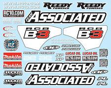 Team Associated RC8B3.1 81270 RC8B3 Decal Sheet