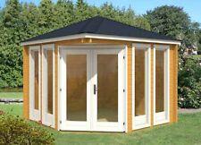 5 Eck Gartenhaus Blockhaus Gartenhäuser Holz 360x360mm ,40mm 374011-B