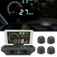Autool Car GPS HUD Speedometer Overspeed Alarm TPMS State Display Digital Meter