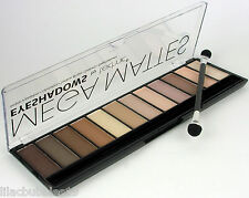 TECHNIC MATTE EYESHADOW PALETTE MEGA MATTES 12 BROWN/NEUTRAL/NUDE SHADES SEALED