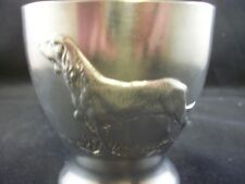STUNNING IRISH MULLINGAR PEWTER CUP MUG WITH RED SETTER DOG & STAG