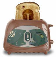 Uncanny Brands Boba Fett Two-Slice Toaster- Toasts Bounty Hunter onto Your Toast