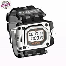 BullToro Men's Crown Operated Digital with Stainless Steel Case and Polyuretha