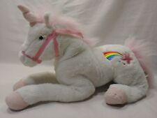 L@@K Unicorn Plush white with star rainbow Pink hair & Horn (C)