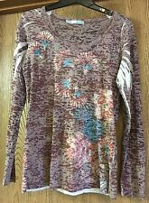 Maurices Long Sleeve Semi Sheer Top Women's Large