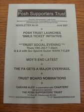 Jun-2007 Peterborough United: il Post sostenitori TRUST-Newsletter n. 24 piede.